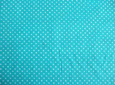 SPOT POLKA DOT TURQUOISE AND WHITE FABRIC 100% COTTON PER 1 METRE 3MM SPOT TURQ